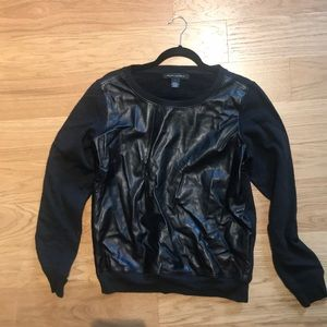 Ralph Lauren leather sweater